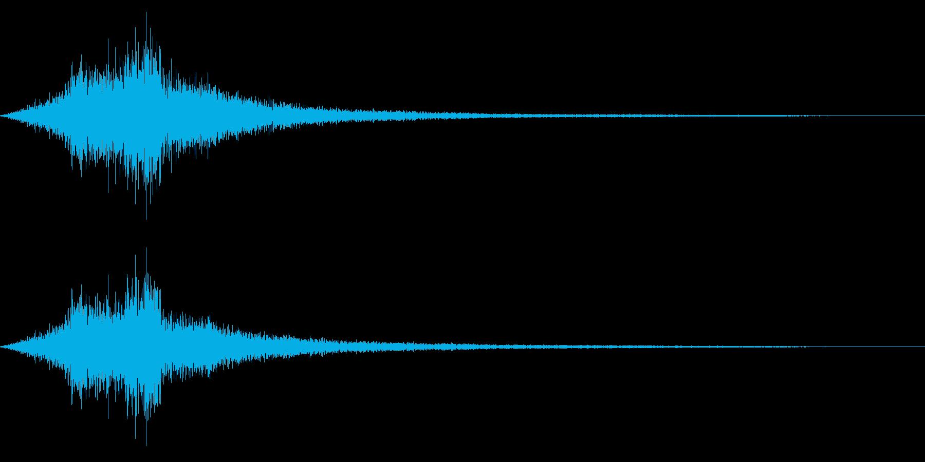 ホラー系アタック音30の再生済みの波形