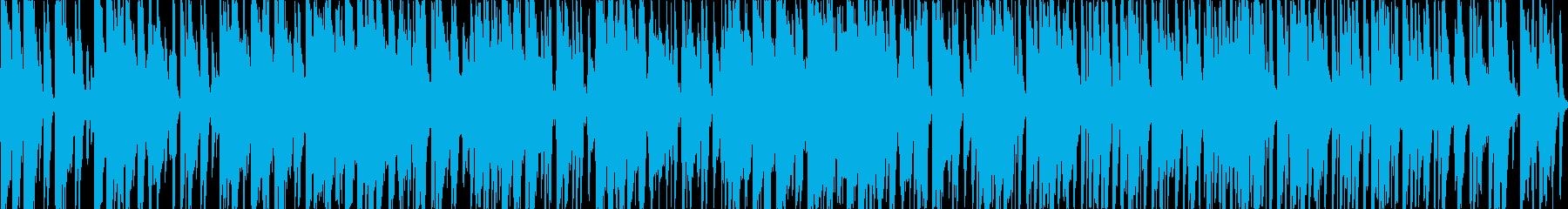 猫系のほのぼのした明るく軽快なループ曲の再生済みの波形
