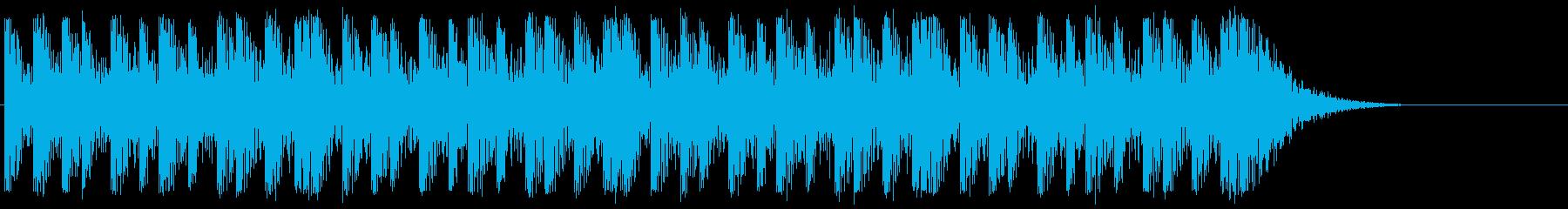 太鼓系楽器のみの迫力あるリズムループで…の再生済みの波形
