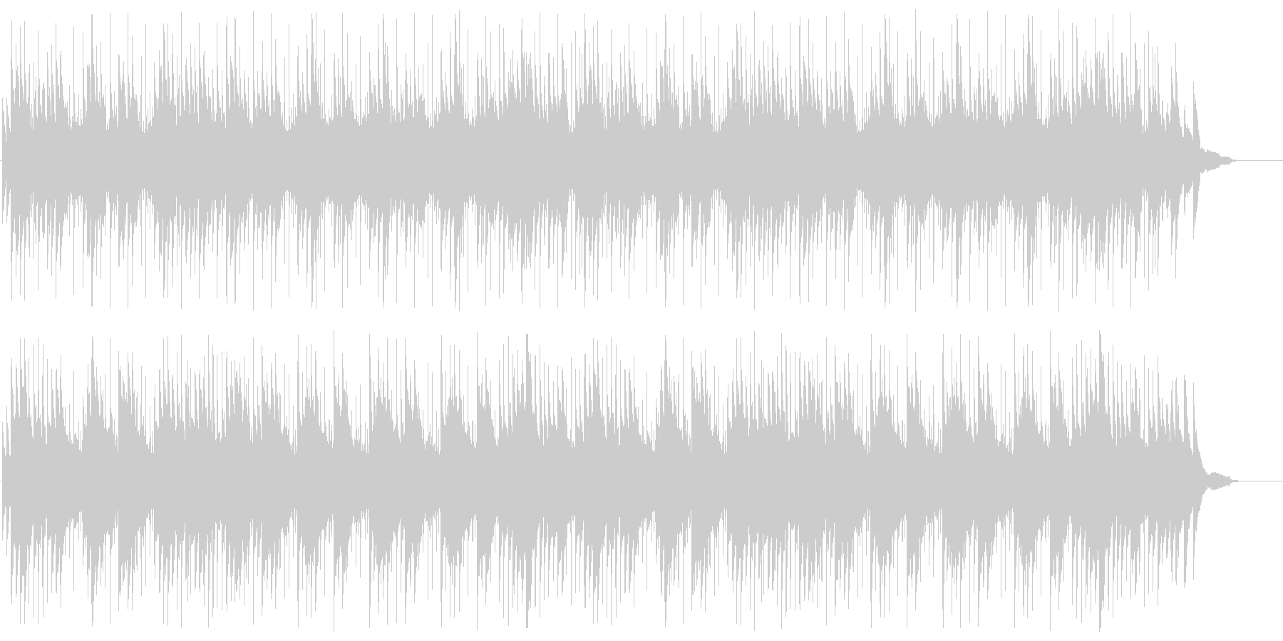 ピアノのシンセの切ないポップスの未再生の波形