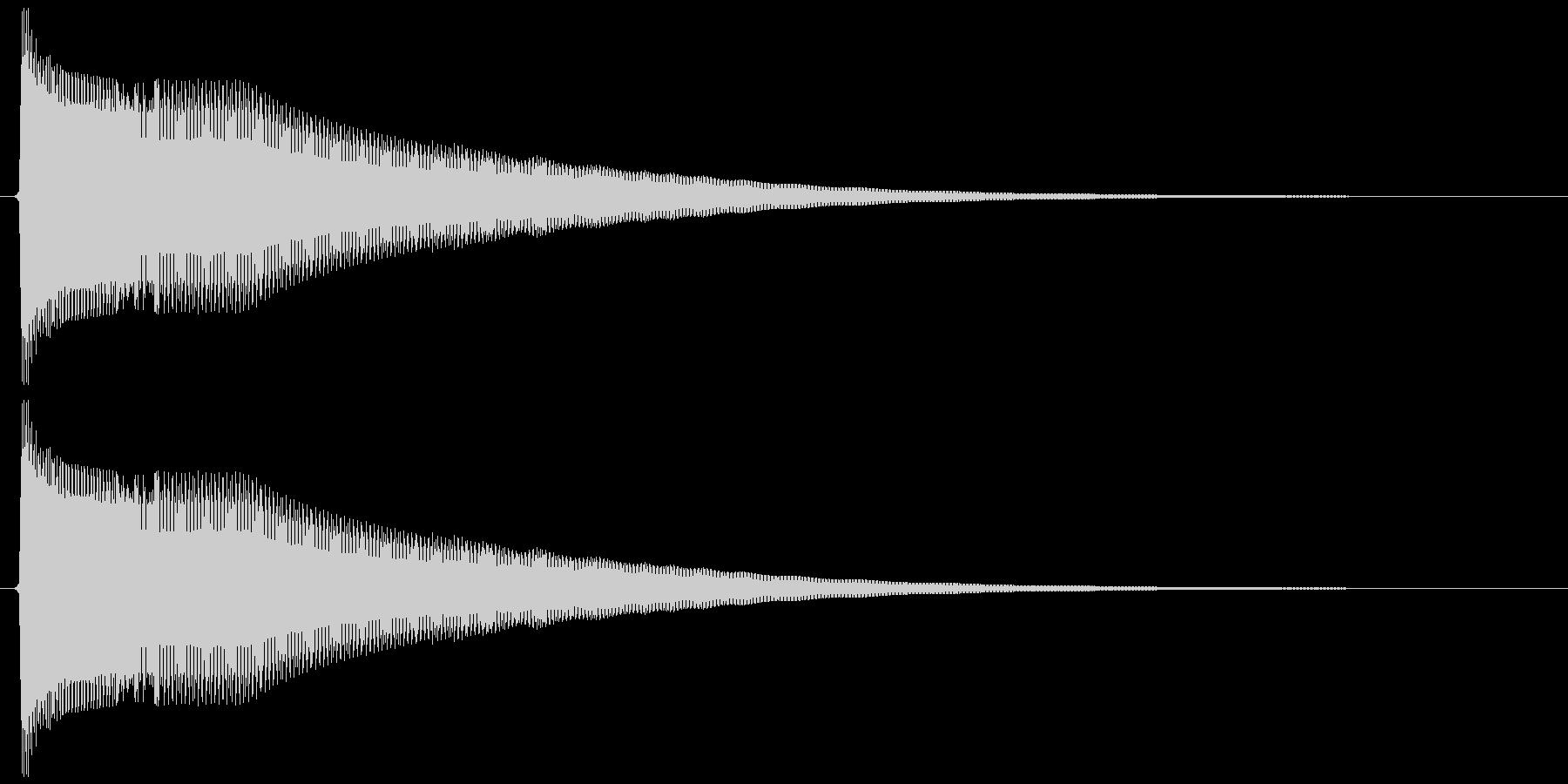 ピーヨンー(決定、ゲーム)の未再生の波形