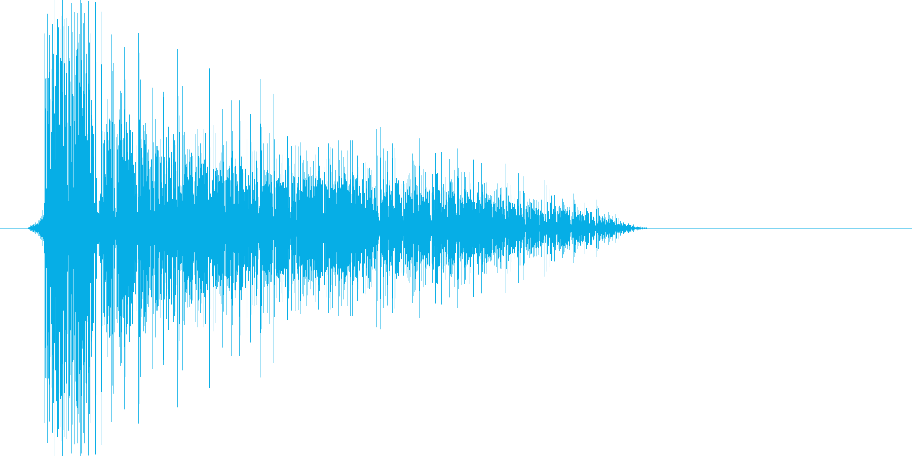 ゲーム(ファミコン風)爆発音_001の再生済みの波形