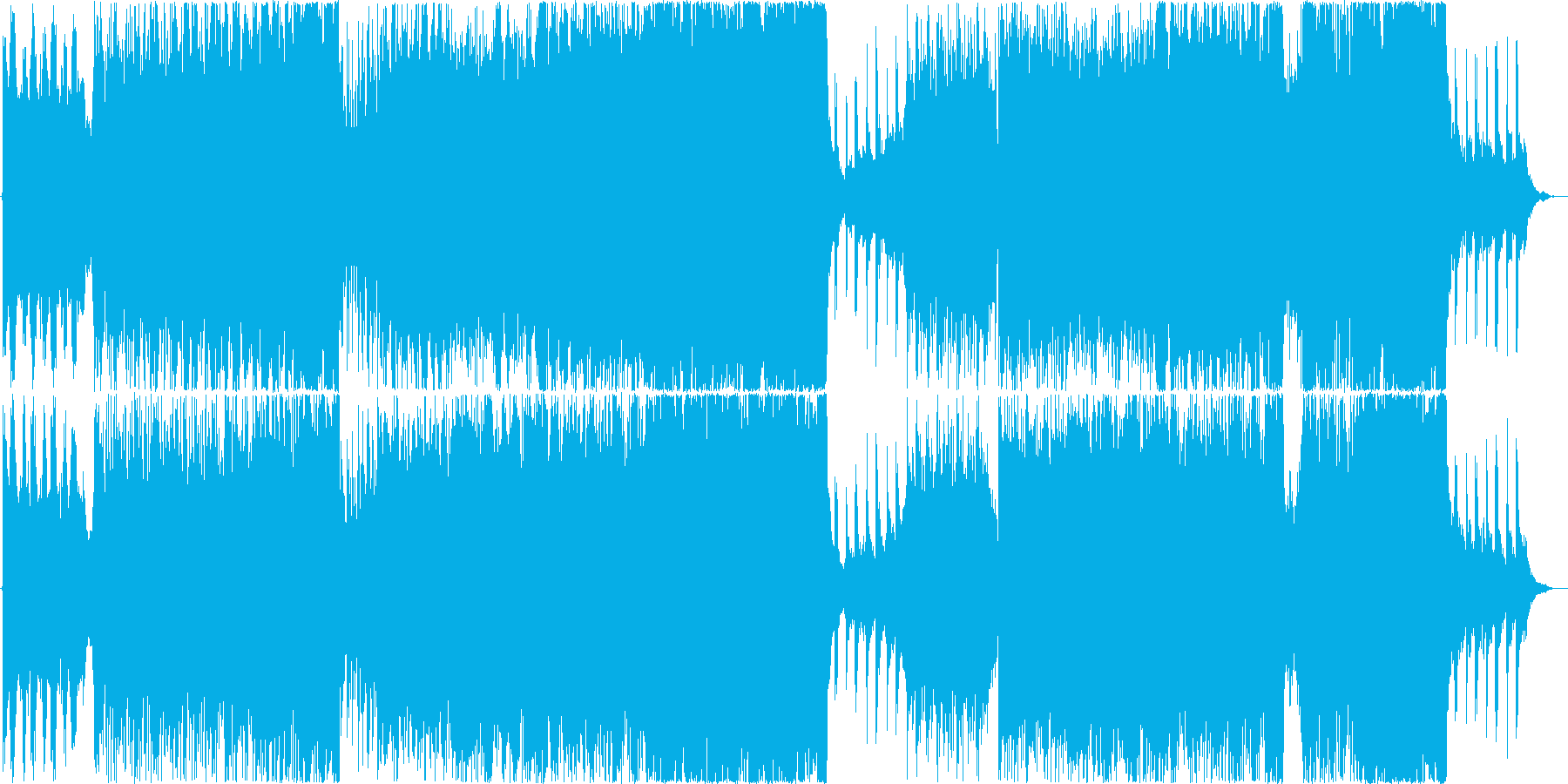 オーケストラとシンセサイザーの壮大BGMの再生済みの波形