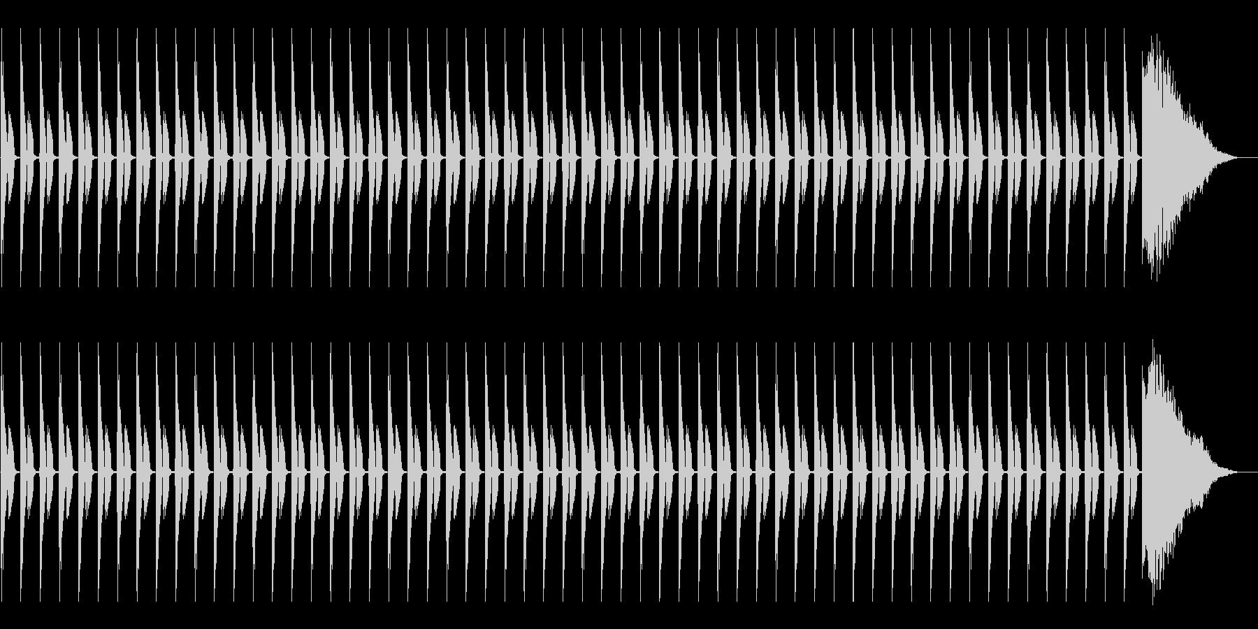 1分カウント3 (シンキングタイム用)の未再生の波形