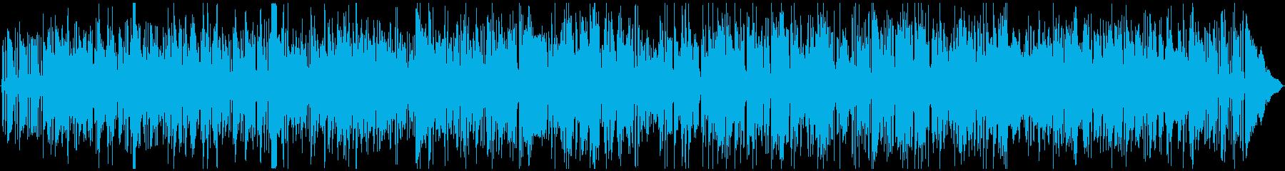 テナーサックスとギターのジャズBGMの再生済みの波形