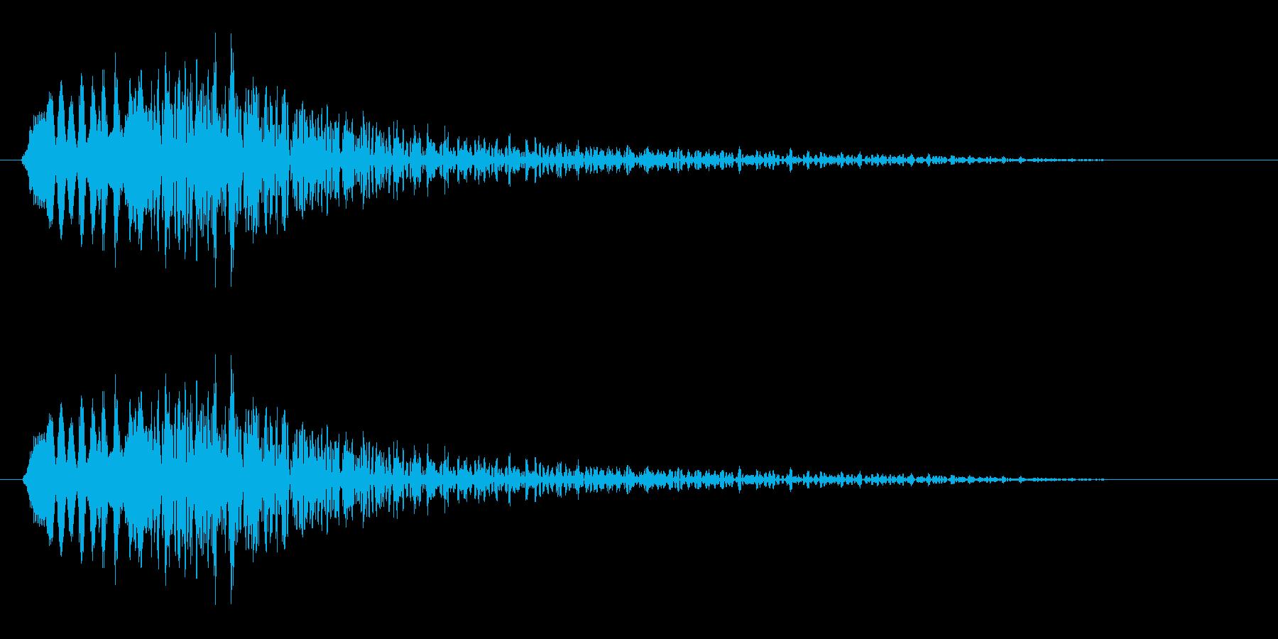 何かしらの警告を表すクリック音の再生済みの波形