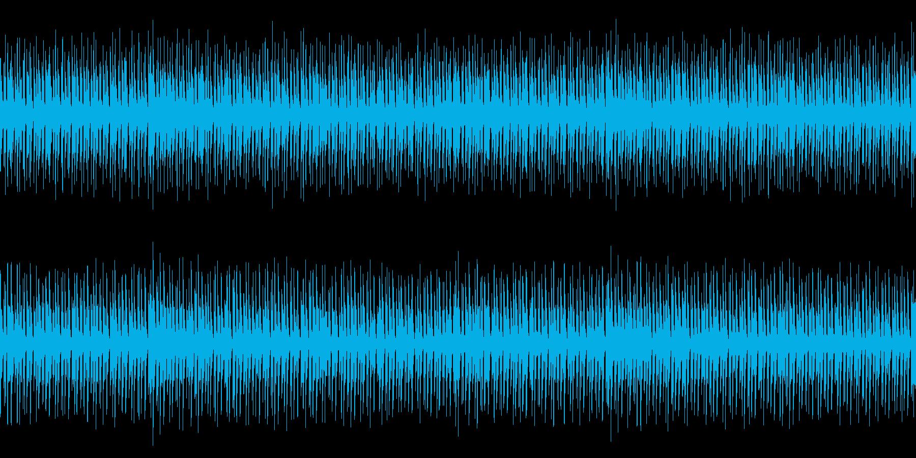疾走感のあるインスト曲の再生済みの波形