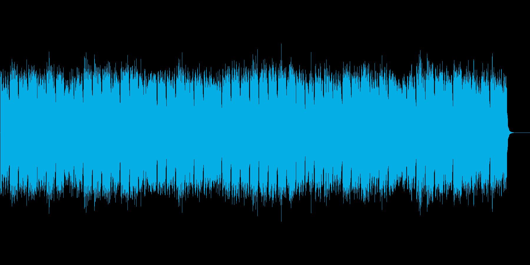 森を探検しているイメージのBGMの再生済みの波形