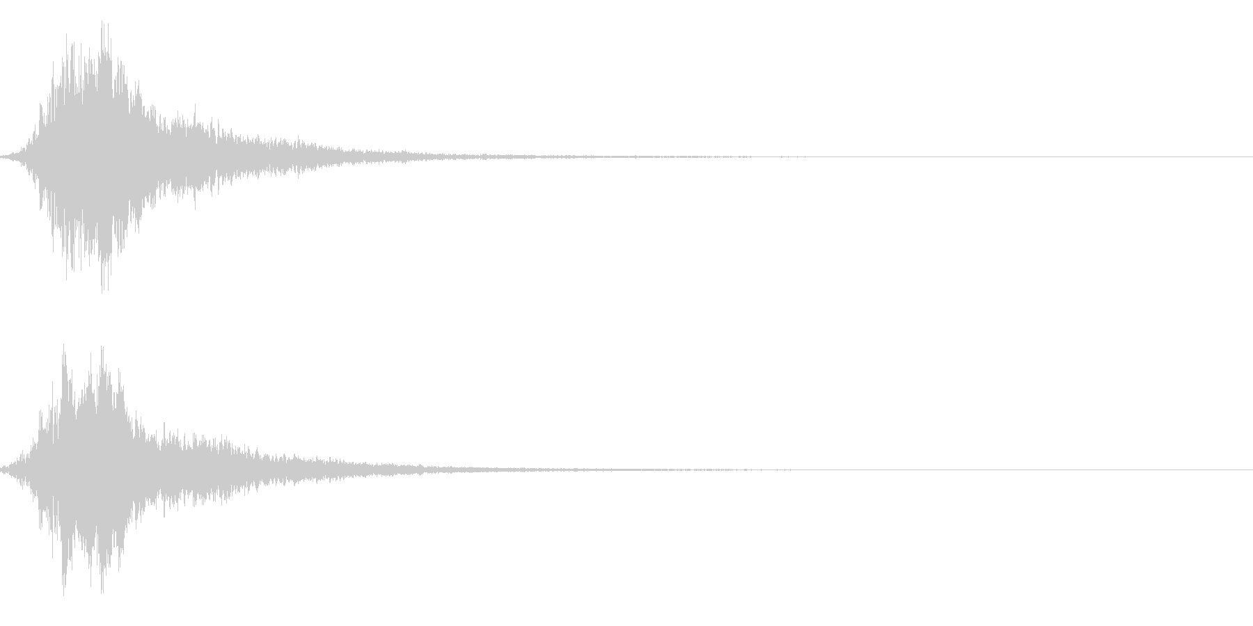 シャキーン!強烈なインパクトに最適!2bの未再生の波形