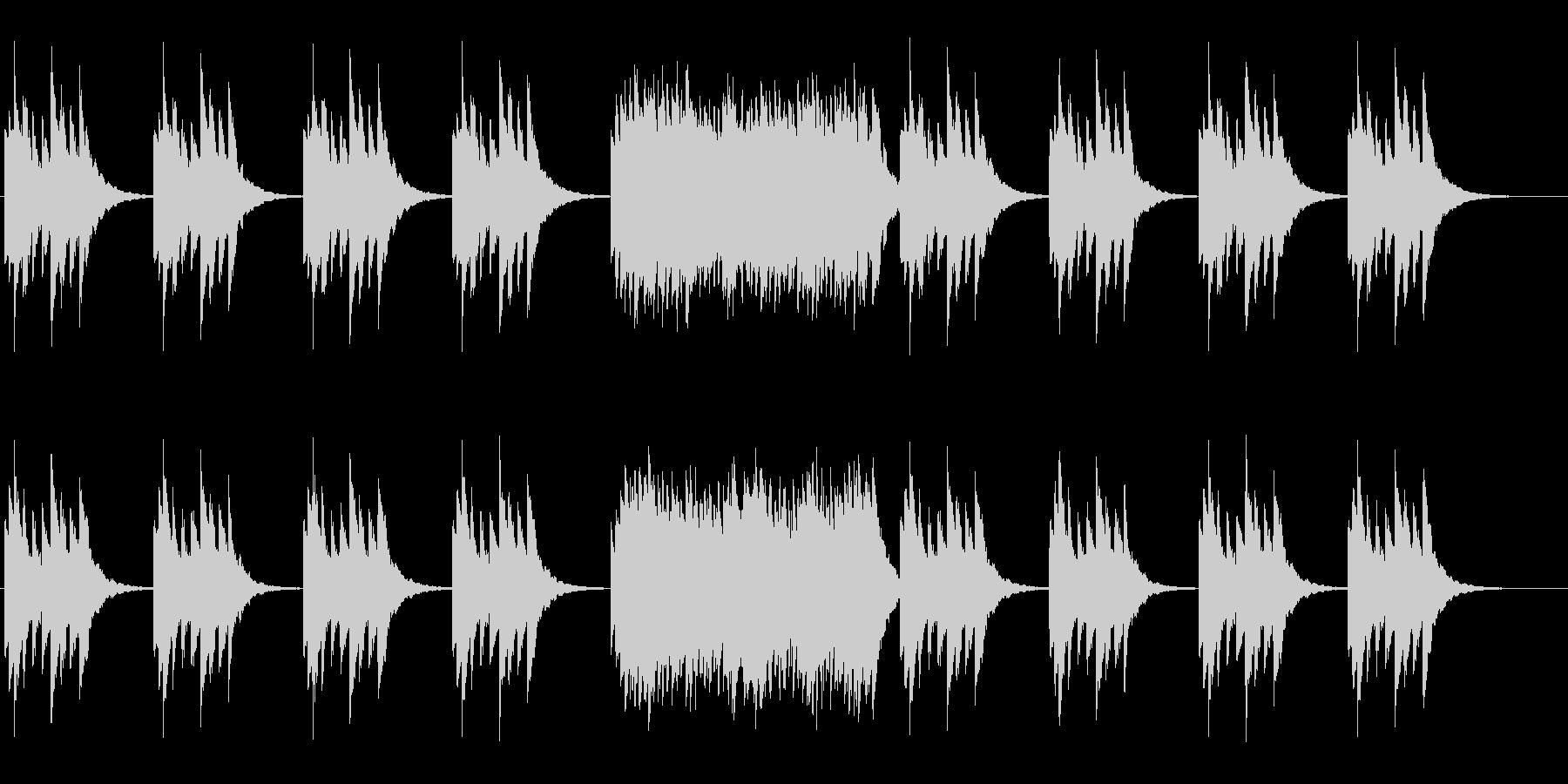 せつない旋律のオルゴールの曲ですの未再生の波形
