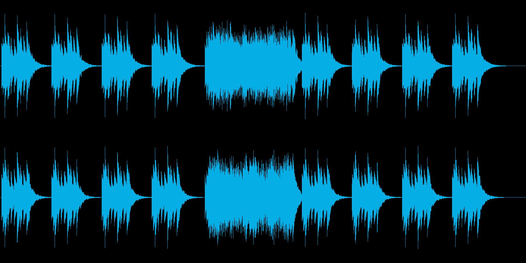 せつない旋律のオルゴールの曲ですの再生済みの波形
