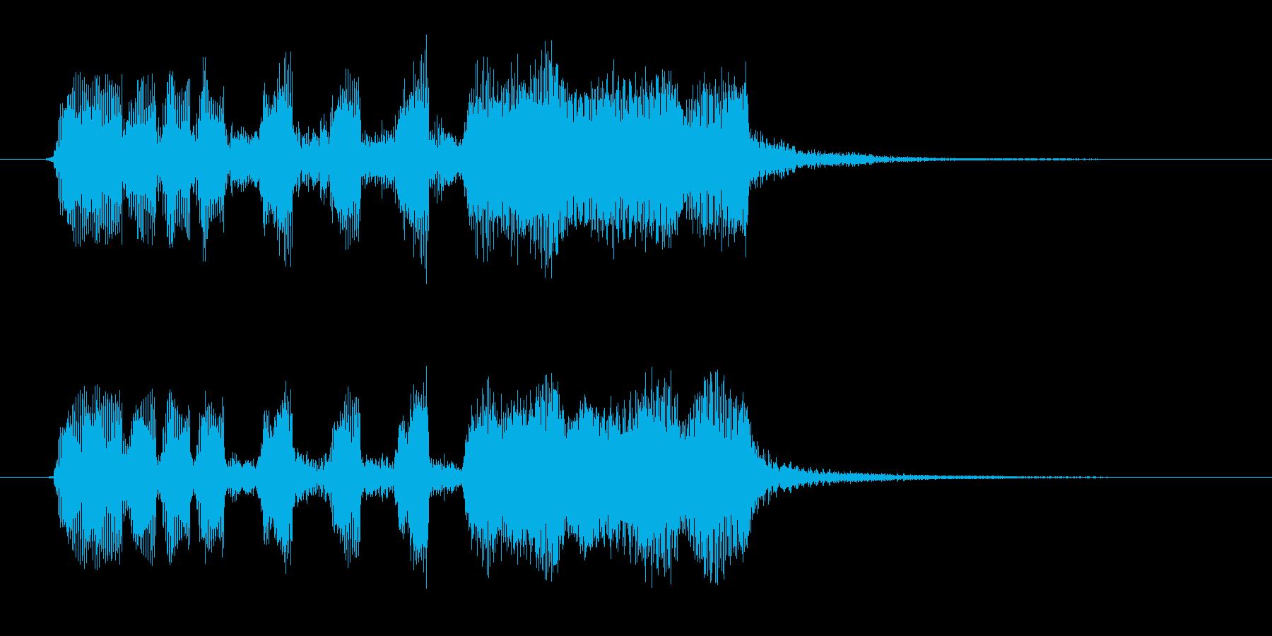 3秒のファンファーレですの再生済みの波形