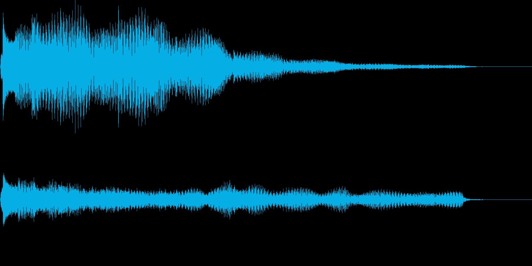 Eギター&ベルのジングルの再生済みの波形