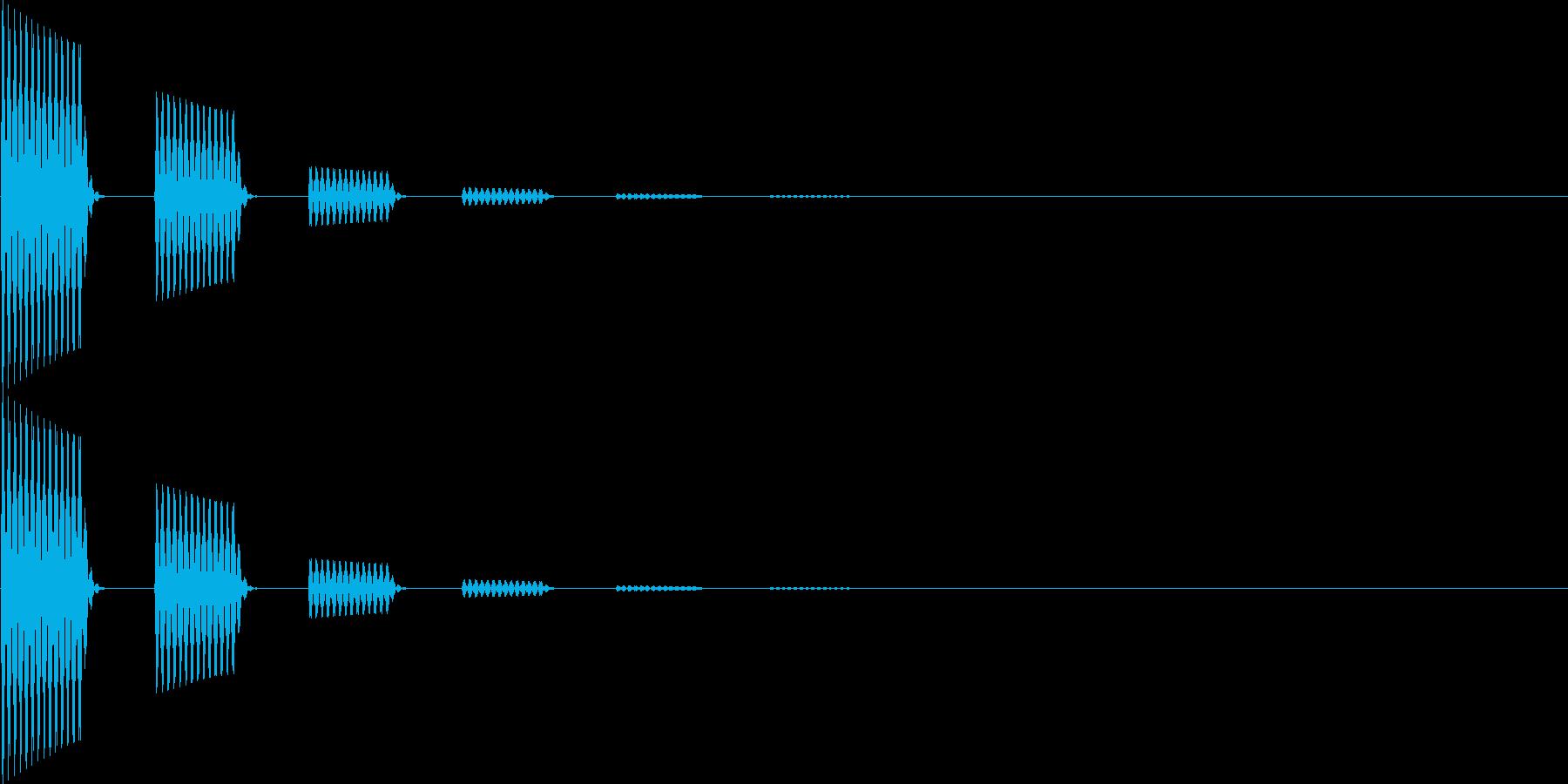 ポポーン(移動、魔法、クリック)の再生済みの波形