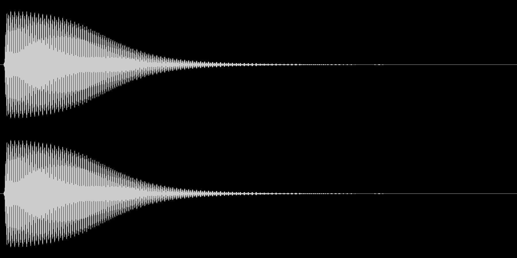 Com ファミコンなどのコマンド音 11の未再生の波形