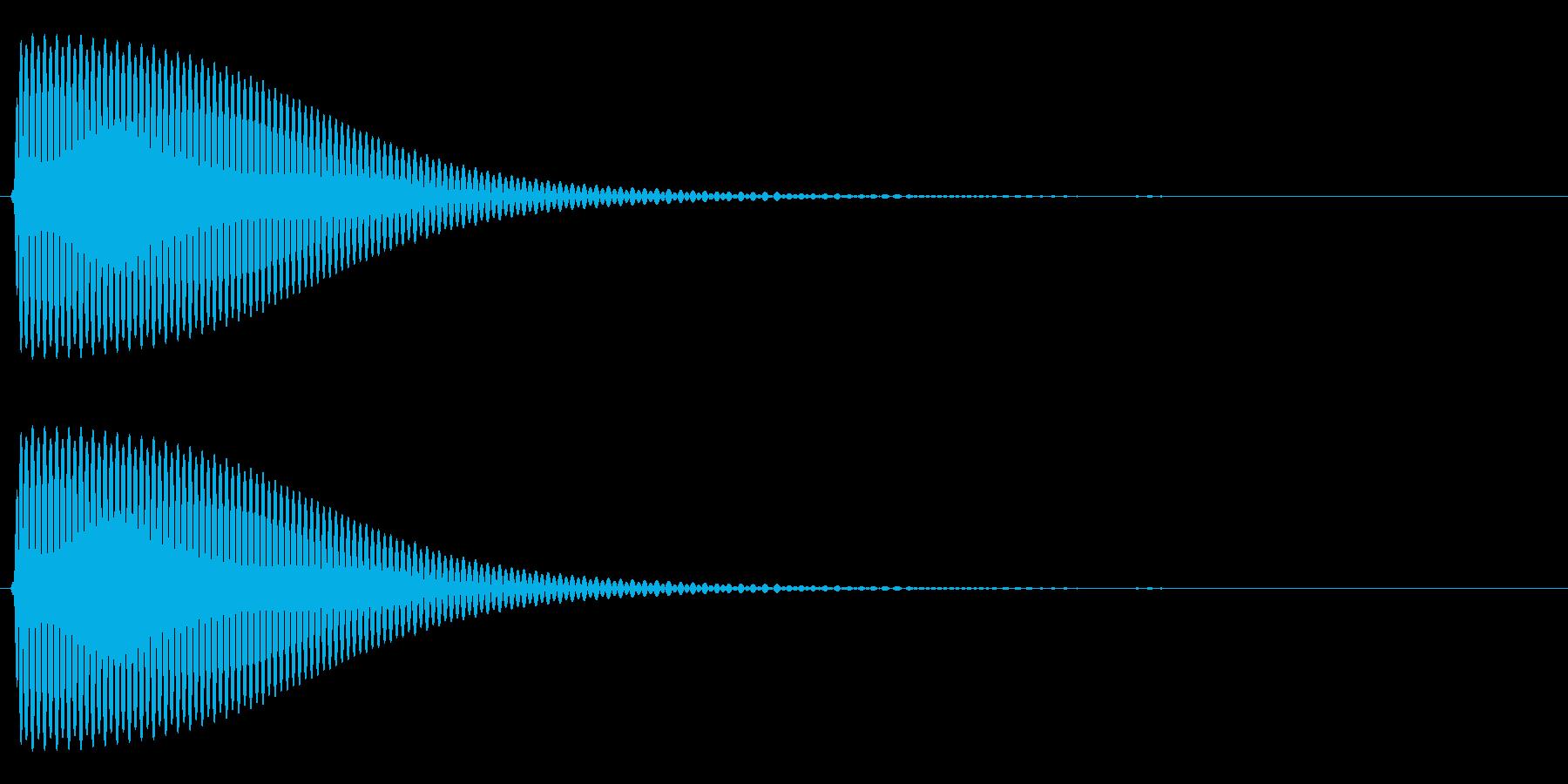 Com ファミコンなどのコマンド音 11の再生済みの波形