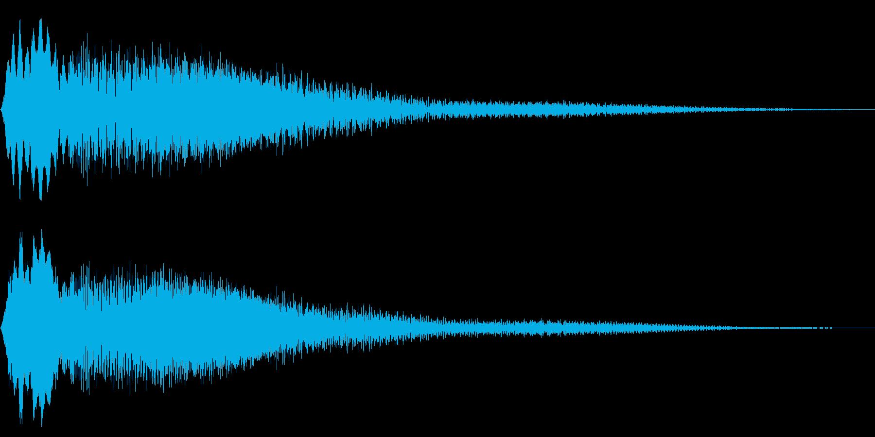 ボタン押下や決定音_キーン!の再生済みの波形