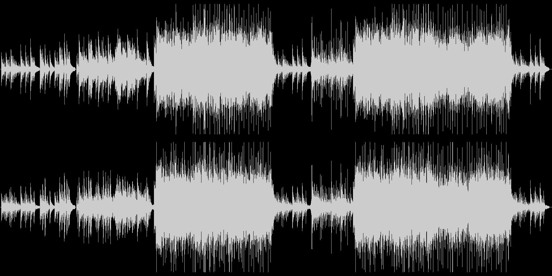 CM,映像向け ピアノ中心の和風BGMの未再生の波形