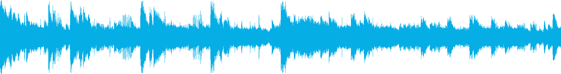 廃墟をイメージした無機質なピアノBGMの再生済みの波形