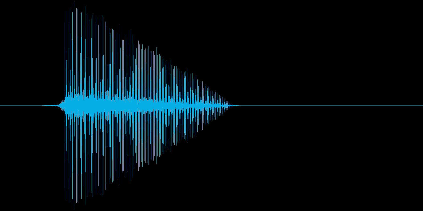 ゲーム(ファミコン風)ジャンプ音_023の再生済みの波形