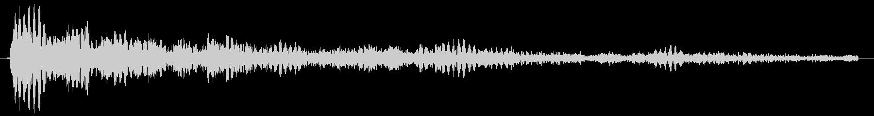クリスタルのような幻想的な選択、効果音の未再生の波形