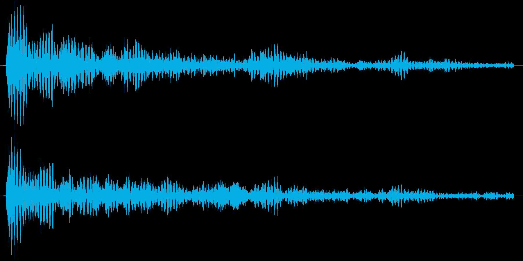 クリスタルのような幻想的な選択、効果音の再生済みの波形