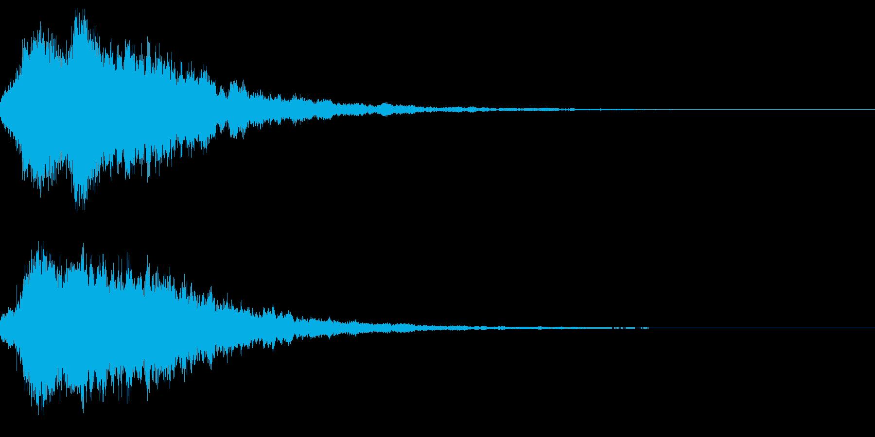 キラキラ輝く テロップ音 ボタン音04bの再生済みの波形