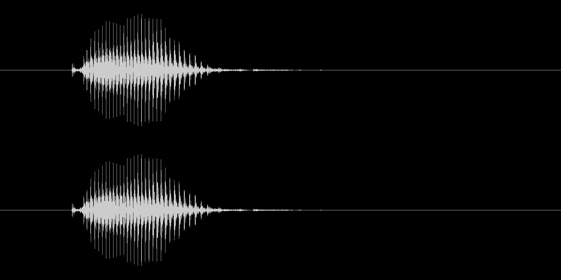北(ペイ)[麻雀]の未再生の波形