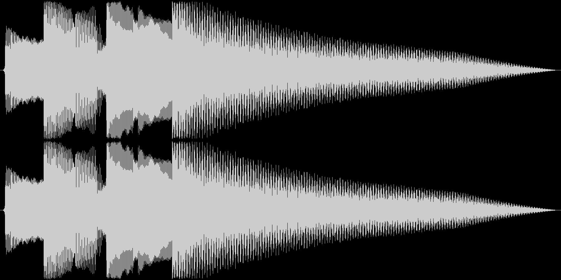 ジングル アルペジオギターAの未再生の波形