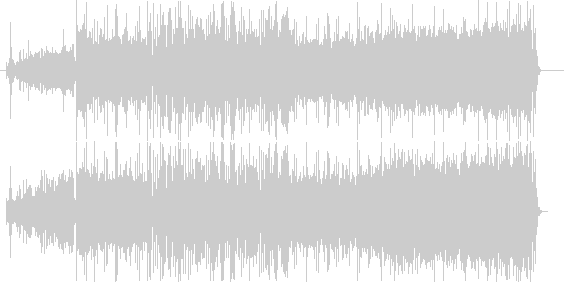 重厚な洋楽ハードロック風ギター/生演奏の未再生の波形