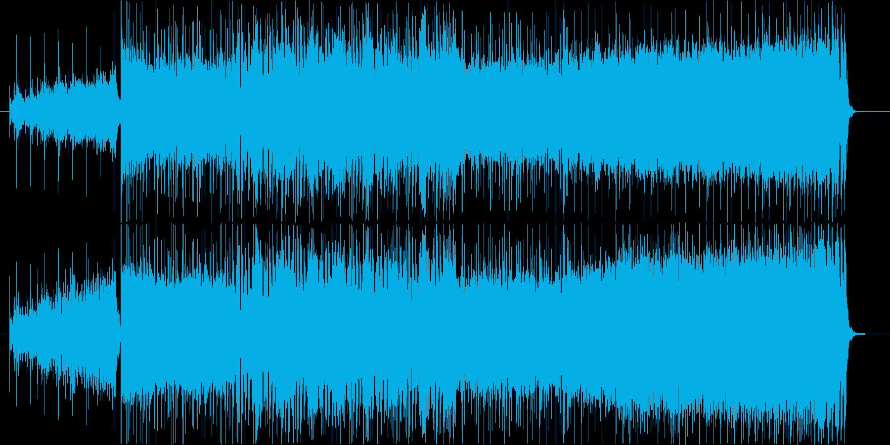 重厚な洋楽ハードロック風ギター/生演奏の再生済みの波形