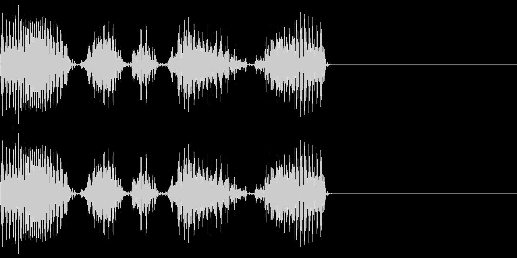 スクラッチ scratch 音の未再生の波形
