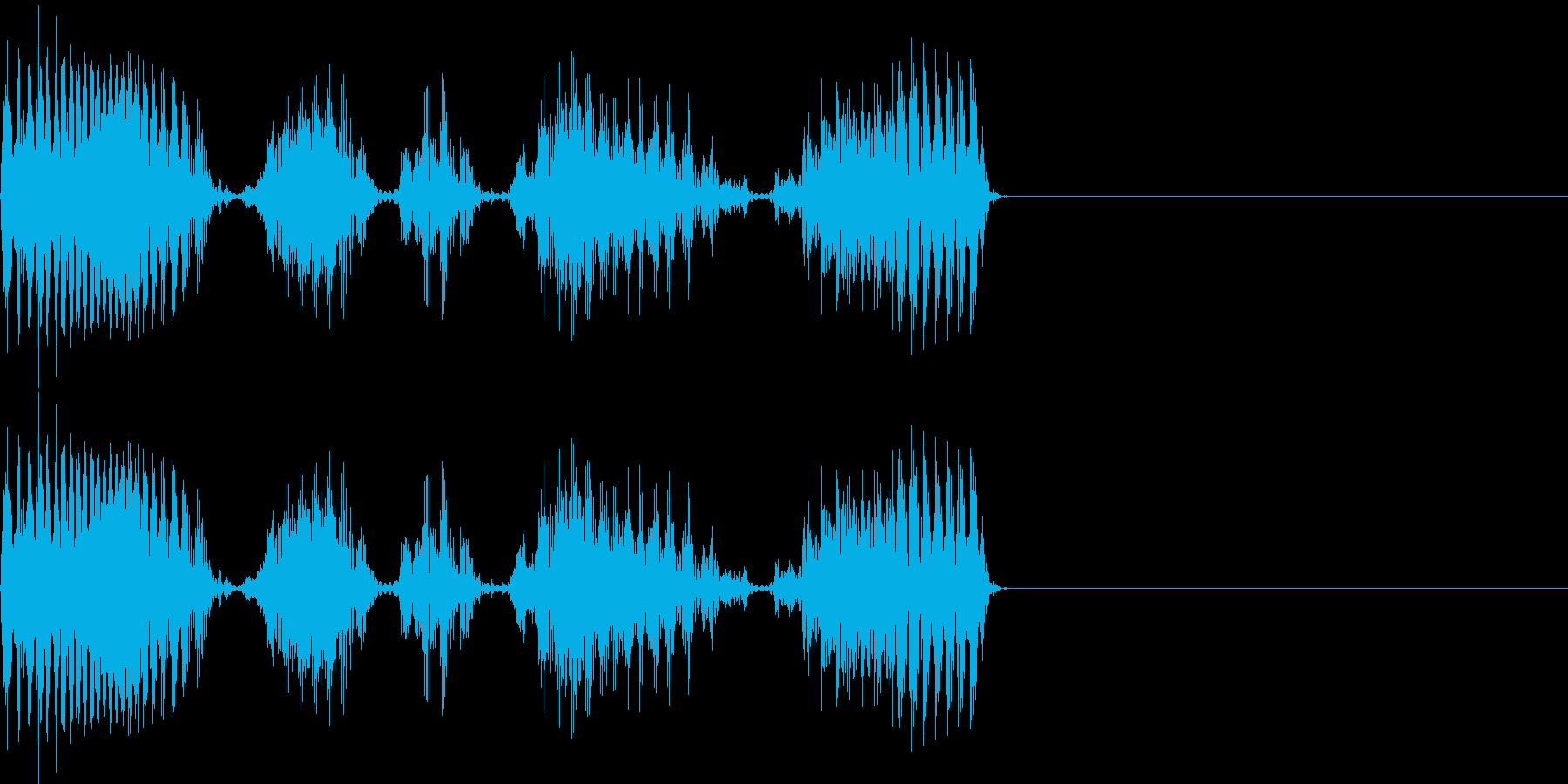 スクラッチ scratch 音の再生済みの波形