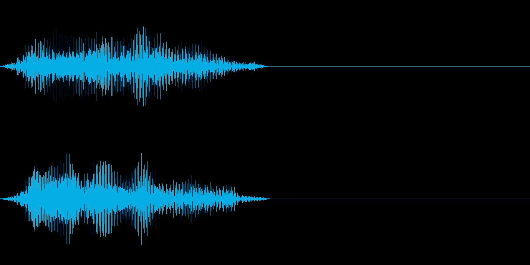 ひ弱なゾンビの発声に 2の再生済みの波形