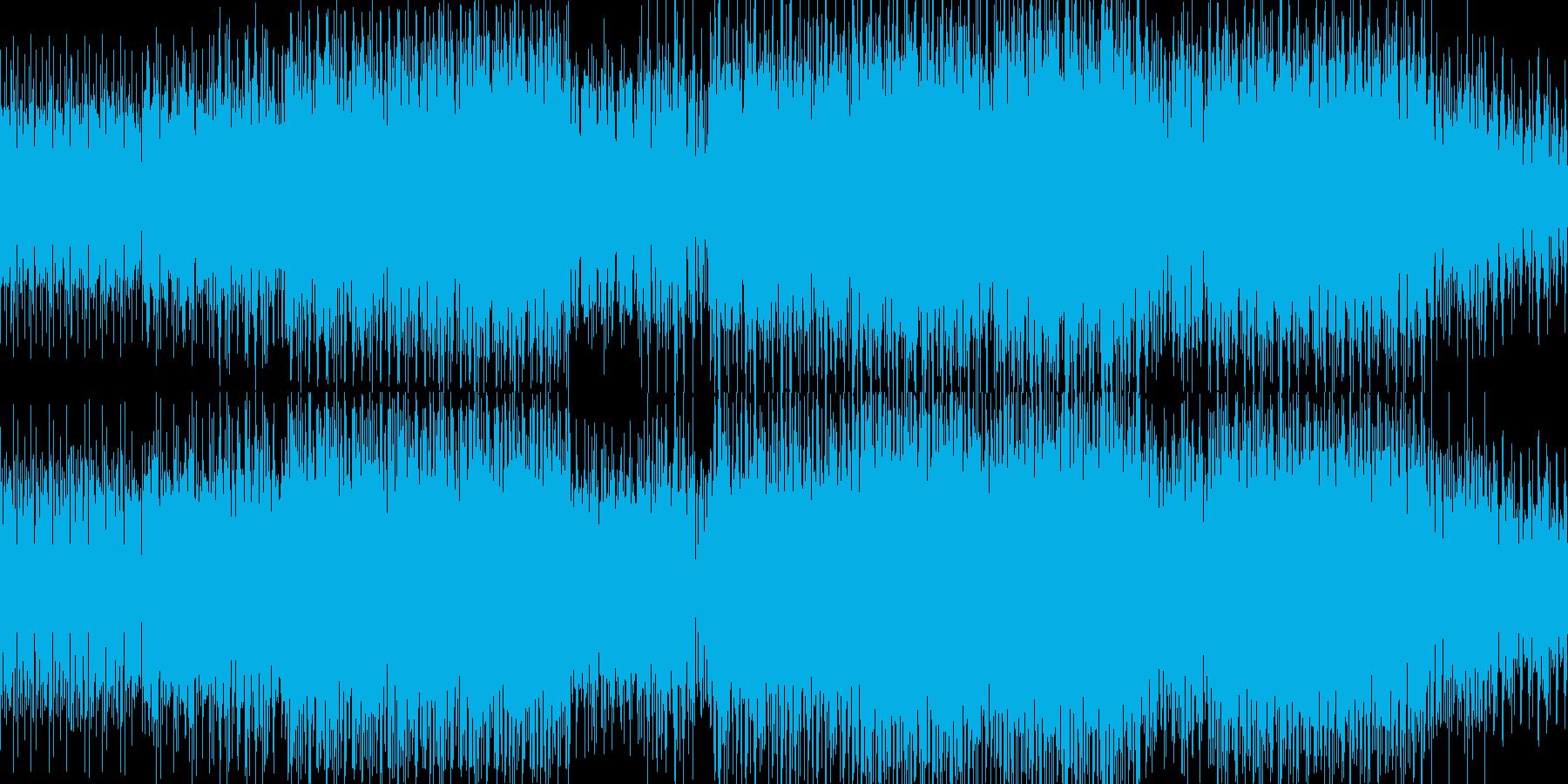 エレクトロBGM(electro)の再生済みの波形