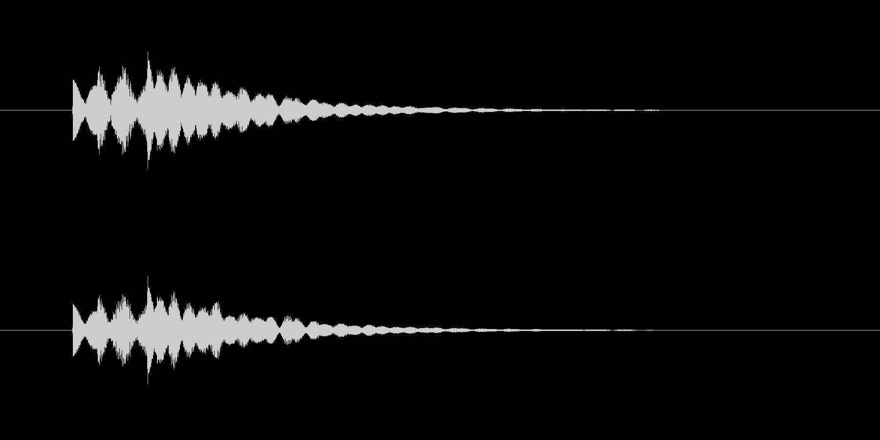 ピポピロン!優しいシンセのジングル。の未再生の波形