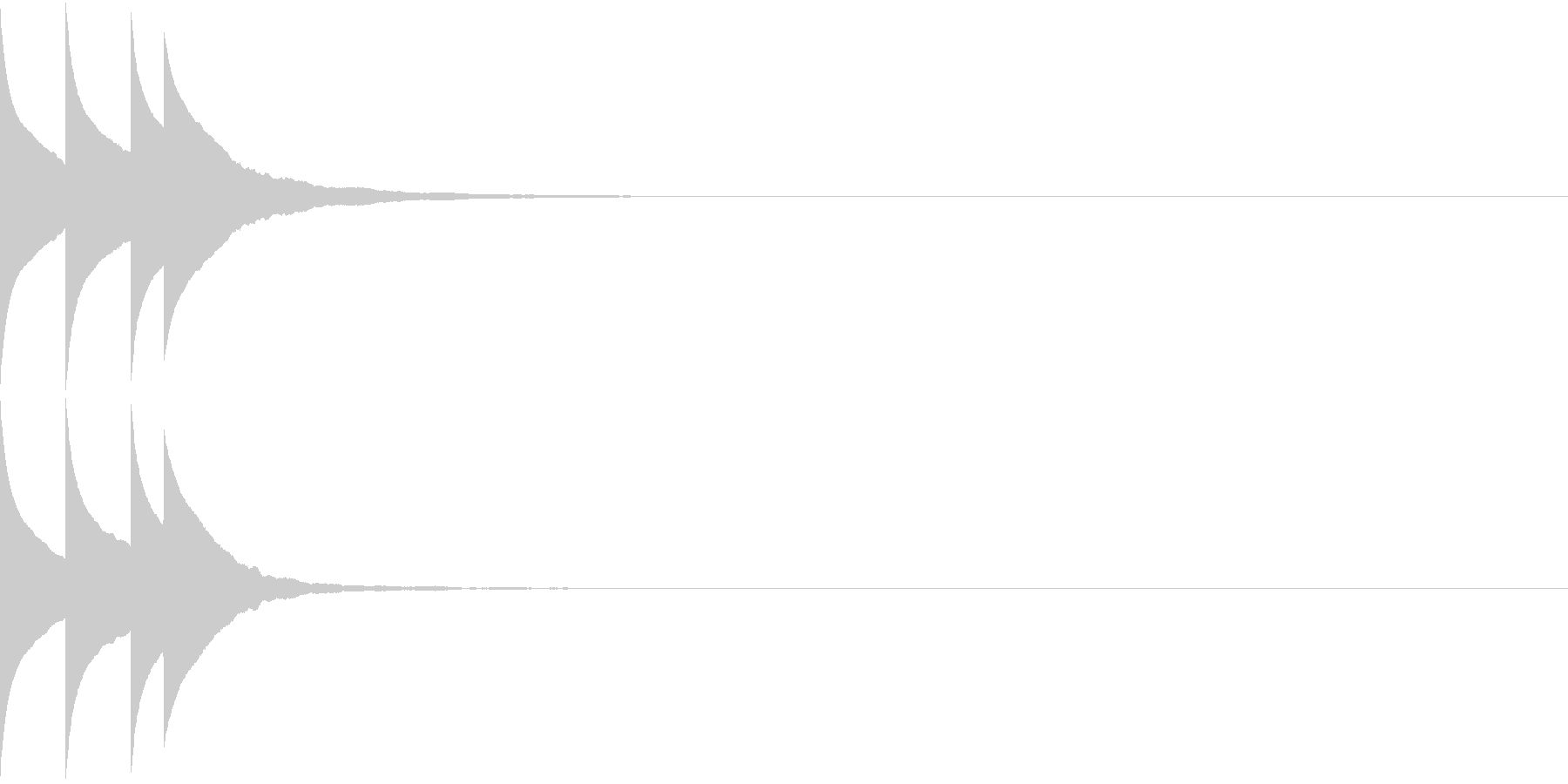 Bank 汎用性のある通知・認証音 6の未再生の波形