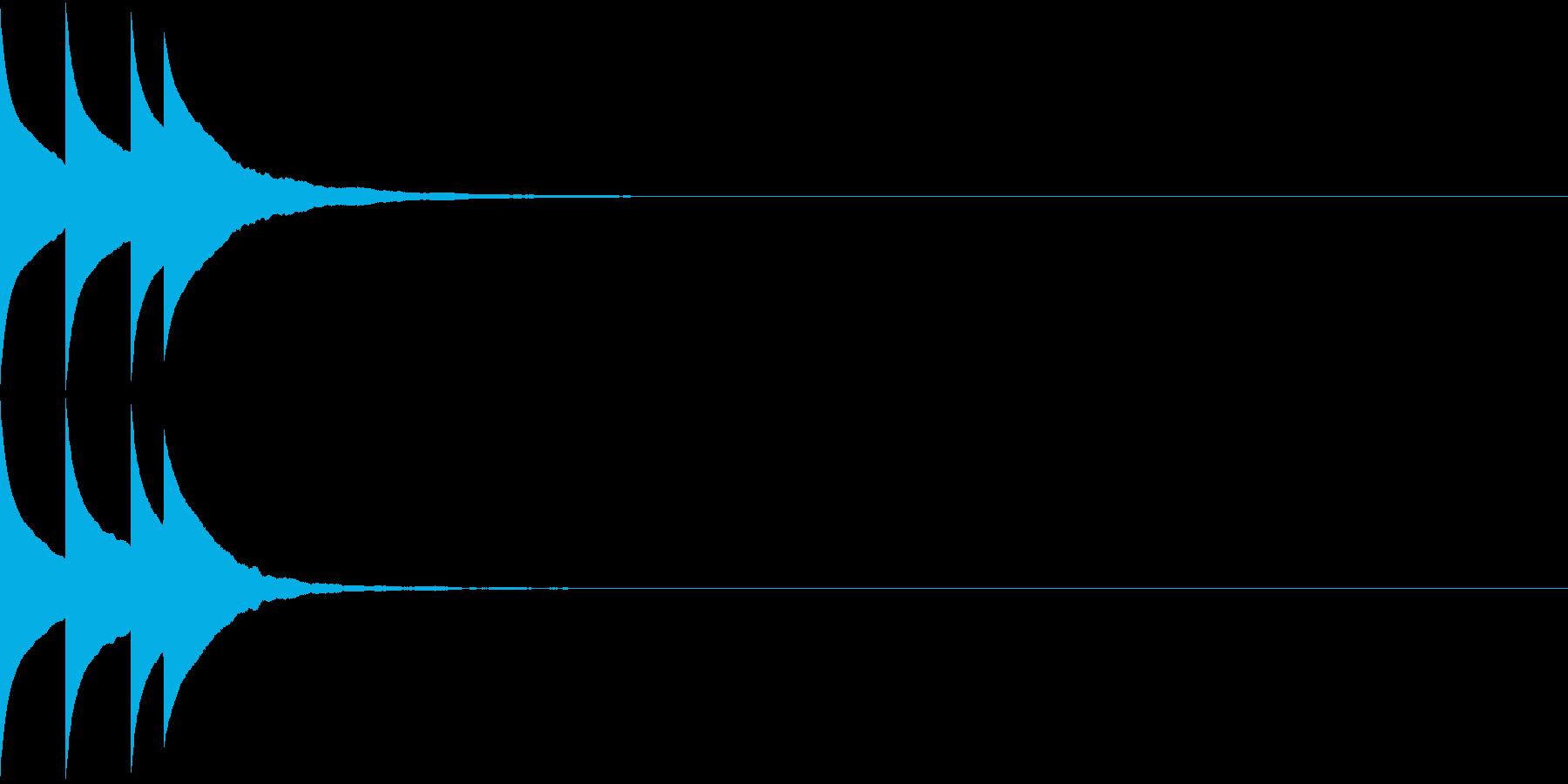 Bank 汎用性のある通知・認証音 6の再生済みの波形