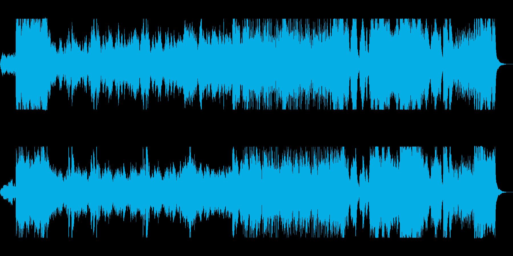 壮大なオーケストラ曲の再生済みの波形