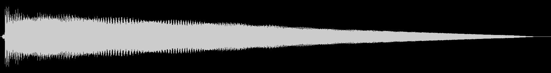 カ↓ン↑ンというコミカルな音の未再生の波形