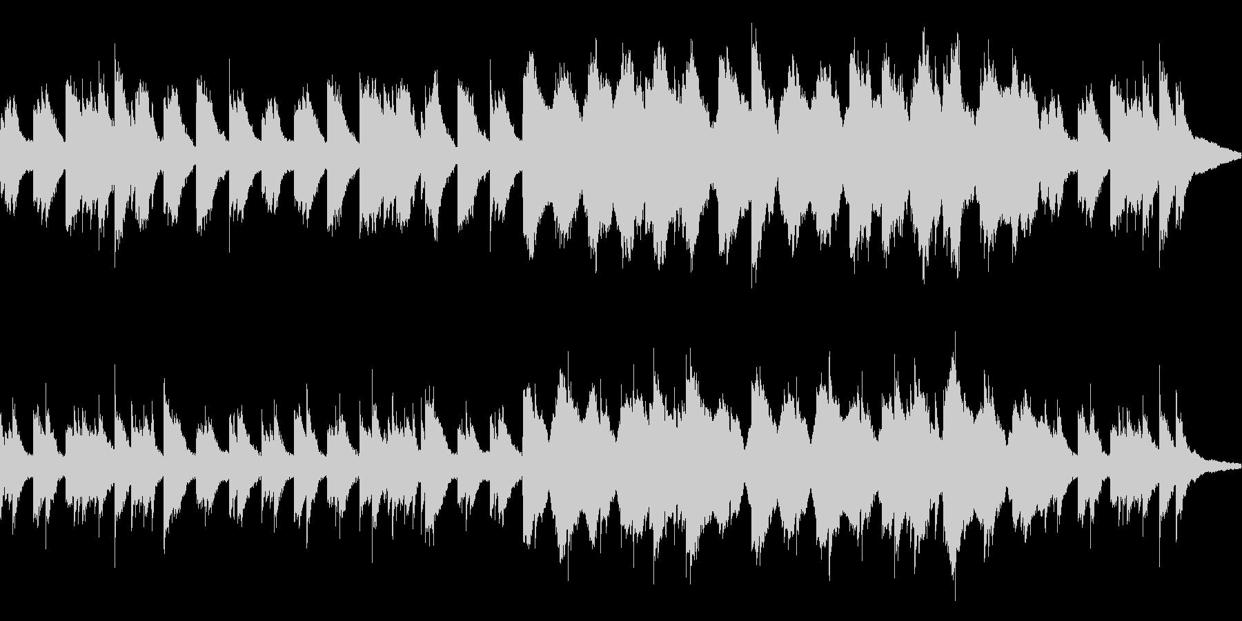 シンプルなピアノアルペジオの未再生の波形