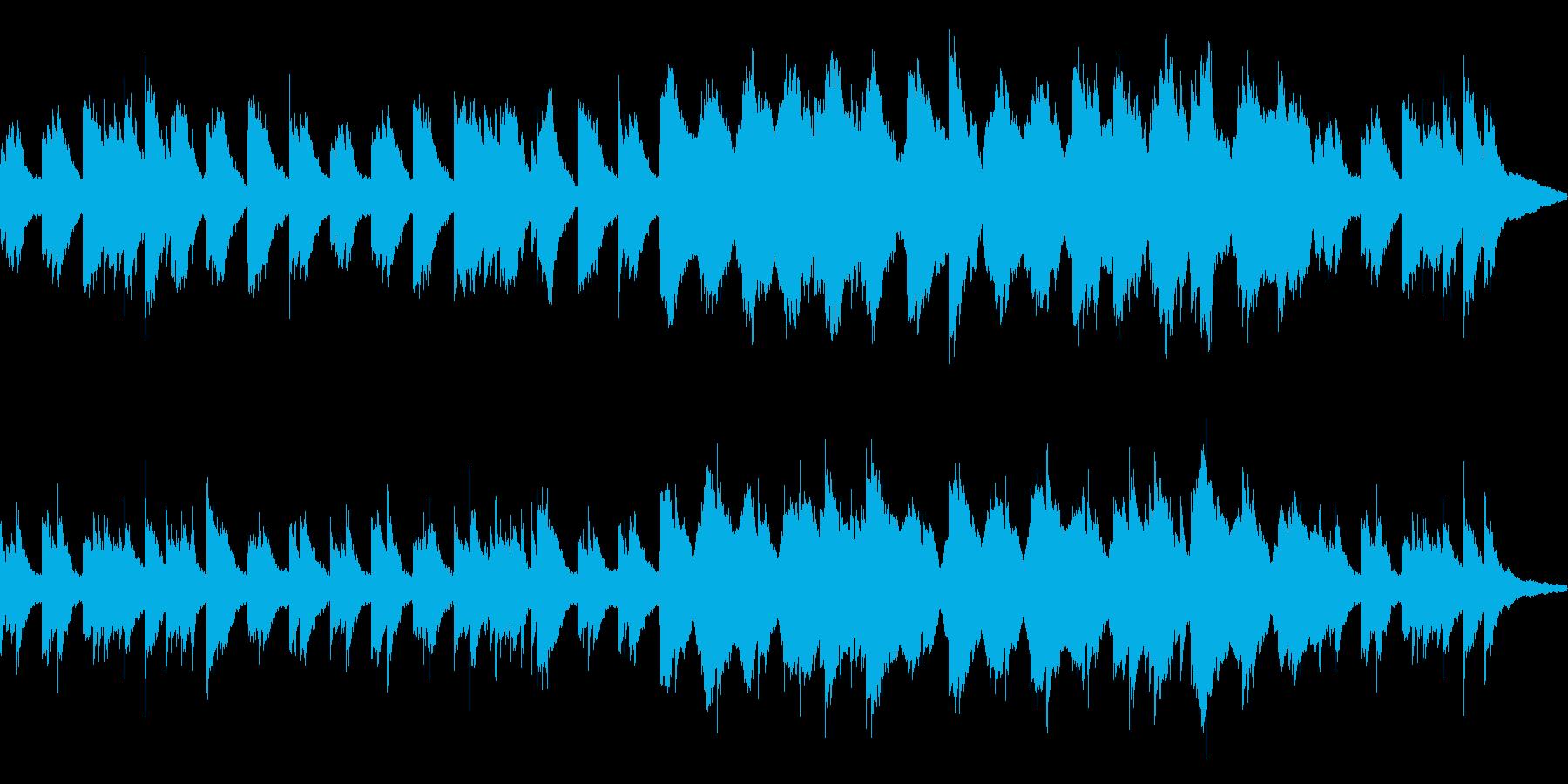 シンプルなピアノアルペジオの再生済みの波形