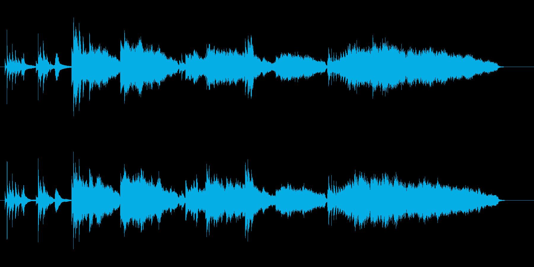 ピアノとストリングスの爽やかな楽曲ですの再生済みの波形
