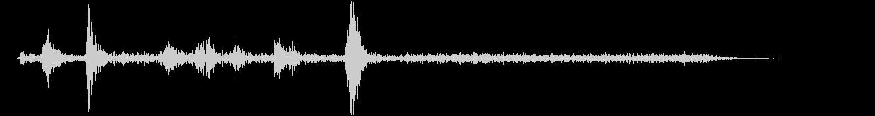 CDドライブ動作音(カシャ+ウィーン)の未再生の波形