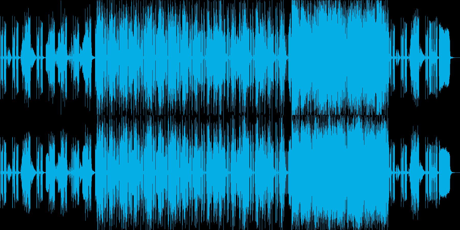 未来的な生活をイメージした曲の再生済みの波形