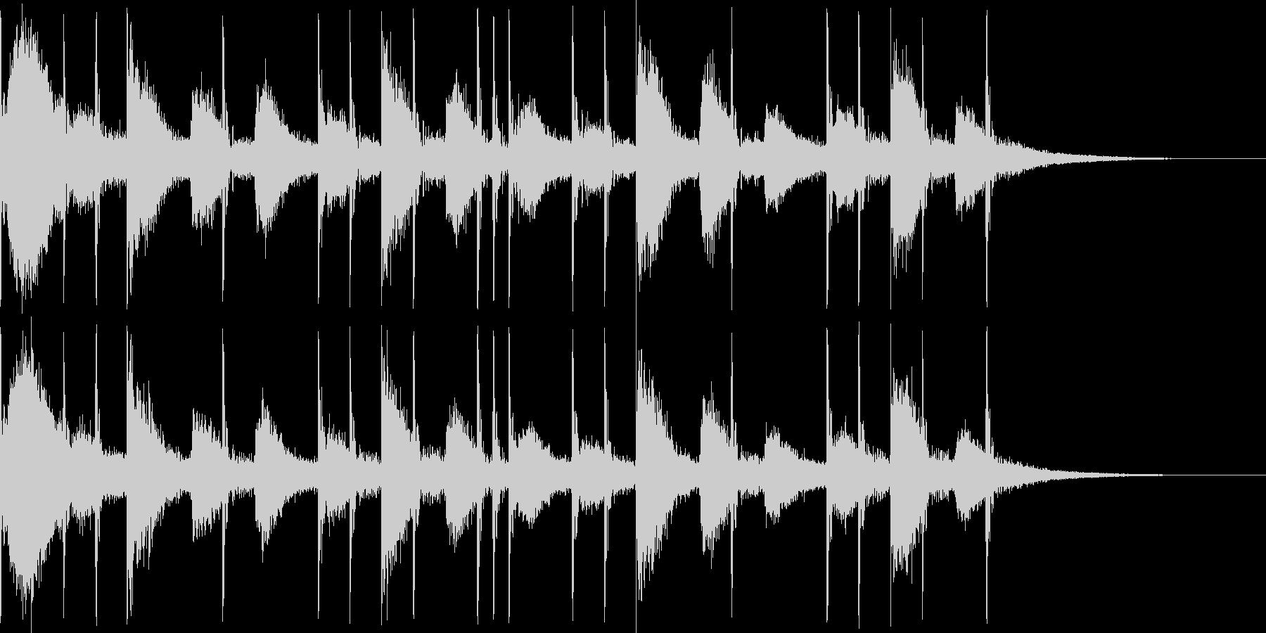 リアルなドラム4ビートです。の未再生の波形