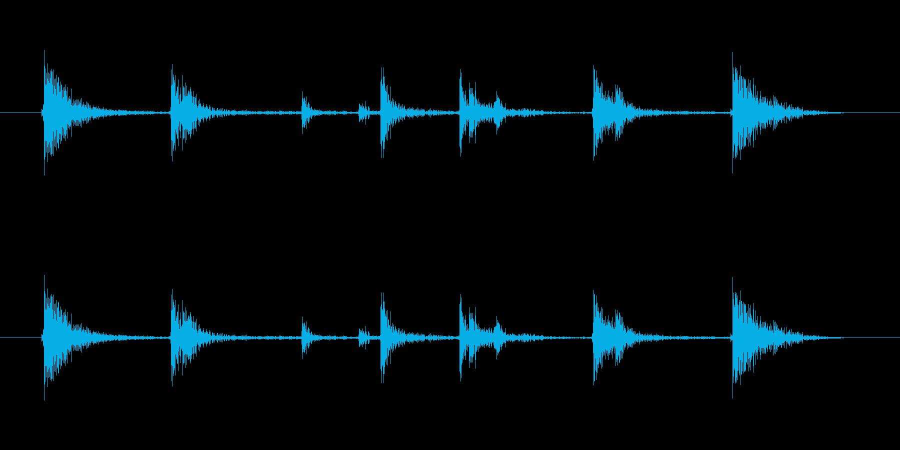落とす音(カタンの再生済みの波形