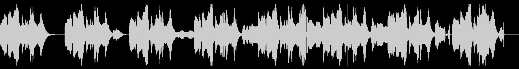 音痴リコーダーのちょっと間抜けなBGMの未再生の波形