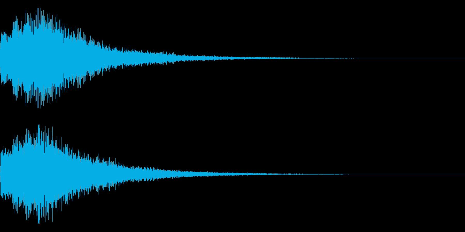 注目、エンター等の再生済みの波形