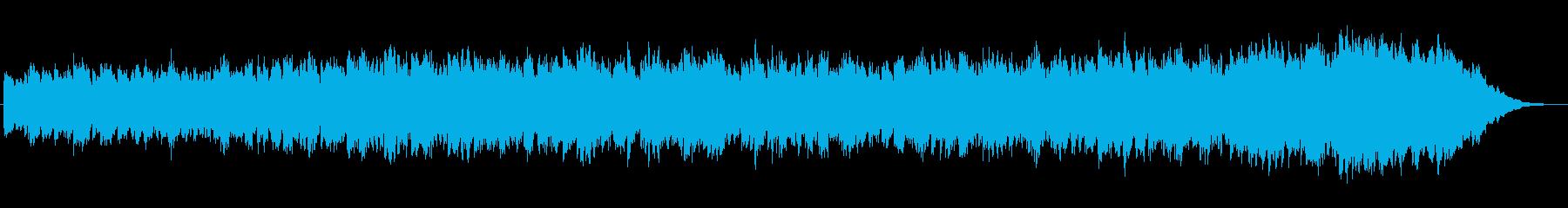 シンセが特徴的な不思議な世界のジングルの再生済みの波形